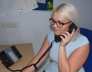 lady on phone